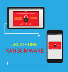 malware encrypted files vector image