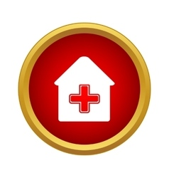 Medical house icon simple style vector image