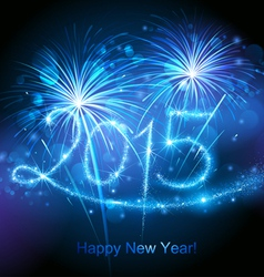 New Year 2015 fireworks vector image vector image