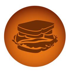 orange emblem sandwich icon vector image