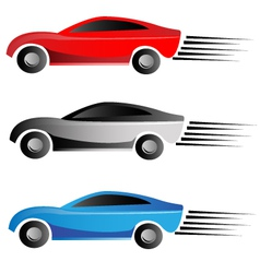 Racing cars vector image