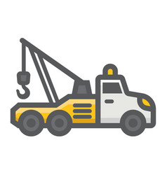 tow truck filled outline icon transport vehicle vector image vector image