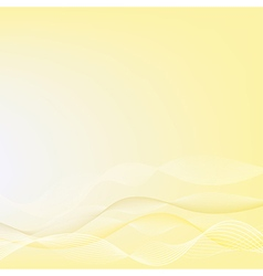 abstract yellow background yellow wave design vector image