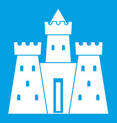 ancient castle palace icon white vector image vector image