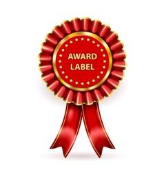 Award Label vector image vector image