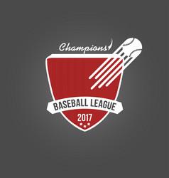 baseball badge league logo or template for vector image
