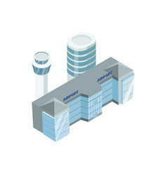 Big airport with towers vector