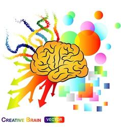 Creative Abstract Brain vector image