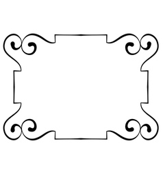 horizontal black frame on a white background vector image vector image