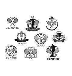 icons for tennis club or tournament awards vector image vector image