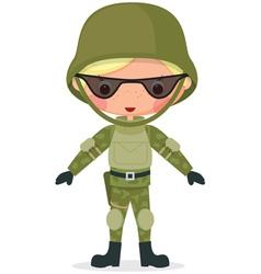 military boy vector image vector image