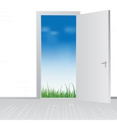 open door to nature vector image
