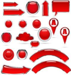 red metal glass kolekcija bre vector image vector image