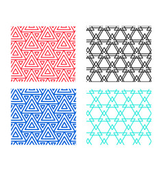 seamless geometric pattern in triangle concept vector image