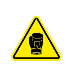 warning sign boxung symbol hazard attention of vector image vector image