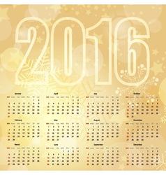 2016 New Year gentle Gold Calendar vector