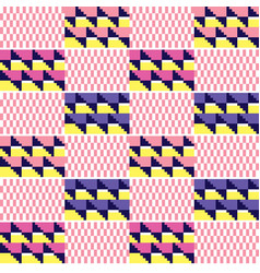 African kente seamless textile pattern vector