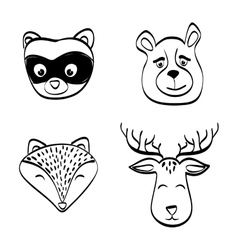 Animal icon set design vector