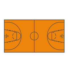 Basketball field layout - playing field scheme vector