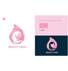 Beauty logo template design vector