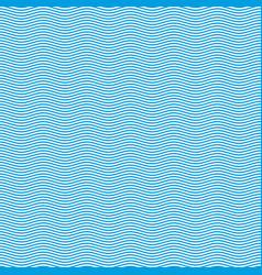 blue seamless wavy pattern vector image