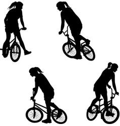 Bmx bicyclist vector