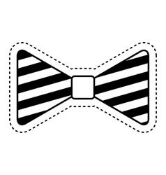 bowtie elegant isolated icon vector image