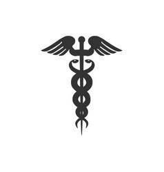 caduceus medical symbol icon isolated medicine vector image