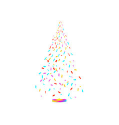 christmas tree from confetti on white background vector image