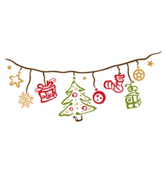 Christmas xmas decoration vector
