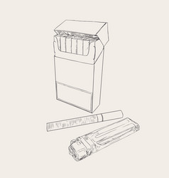 cigarettes pocket sketch vector image