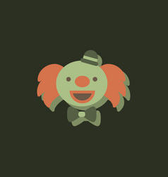 Circus clown in sticker style vector