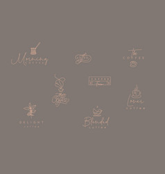 coffee minimalism modern emblems vector image