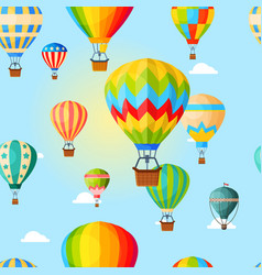 Colorful airballoon pattern air transport vector
