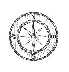 Compass icon sketch sign symbols logo vector