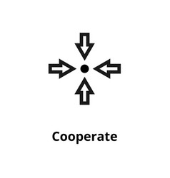 cooperate line icon vector image