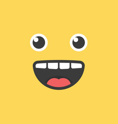 cute emoji smile funny face vector image