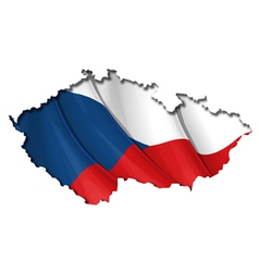 Czech Map Flag vector