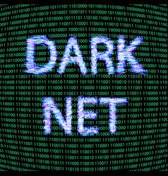 dark net concept vector image