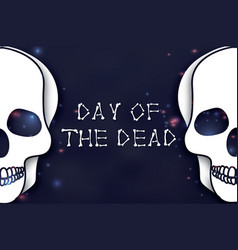 day of the dead paper cut skull for mexican vector image