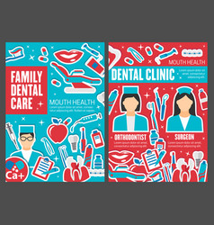 Dental clinic doctors dentistry medicine vector