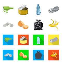 Design of dump and sort logo set of dump vector