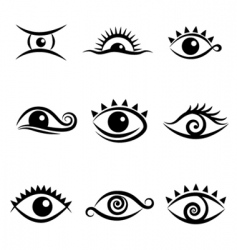 eye symbol set vector image