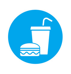 fast food eat and drink icon vector image