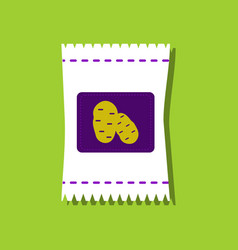 flat icon design collection potato seeds in vector image