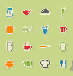 Food and kitchen simply icons vector