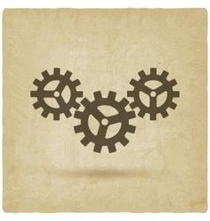 Gear connected symbol industrial concept vector