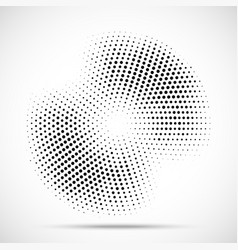 Halftone circle frame random dotted background vector