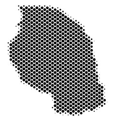 Halftone schematic tanzania map vector