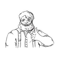 happy bearded man vector image